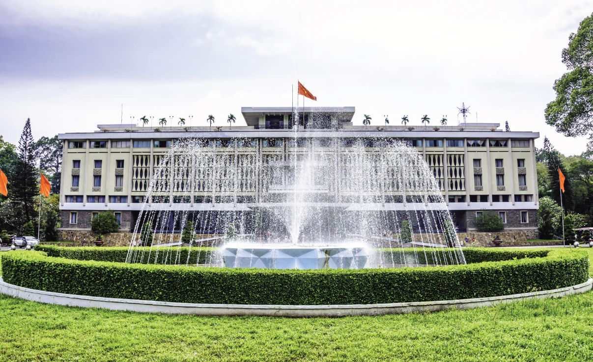 Independence Palace in Ho Chi Minh City, Vietnam. Independence Palace is known as Reunification Pala