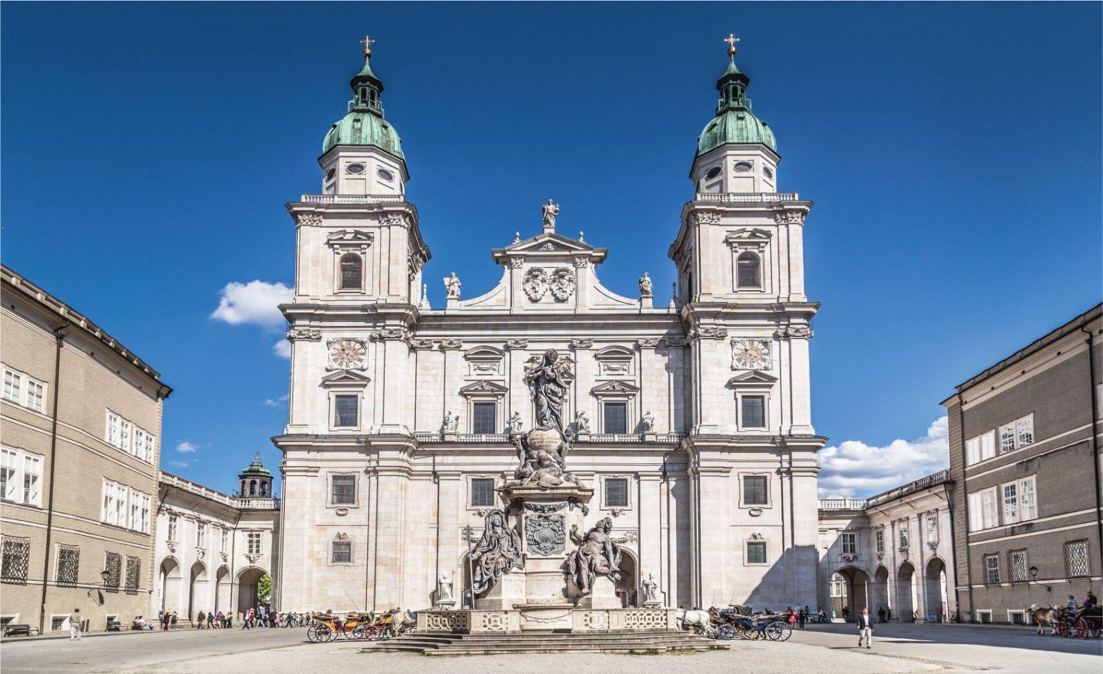 Famous Salzburg Cathedral Salzburger Dom at Domplatz