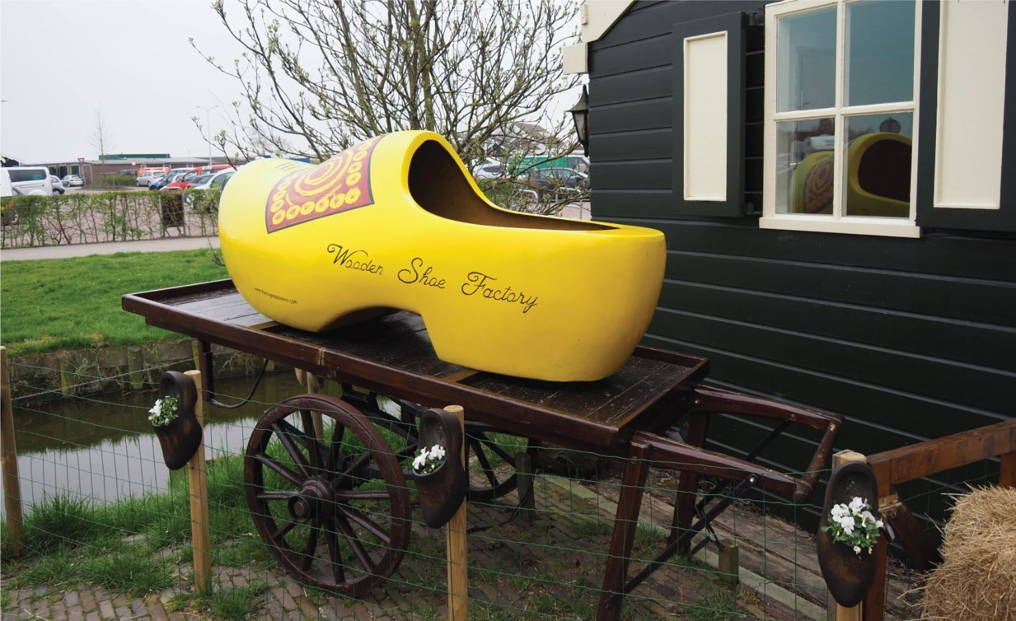 Wooden shoe factory in touristic village Volendam
