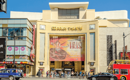 Dolby Theatre (aka Kodak Theatre) is home of the Academy Awards (aka Oscars) as seen in Los Angeles
