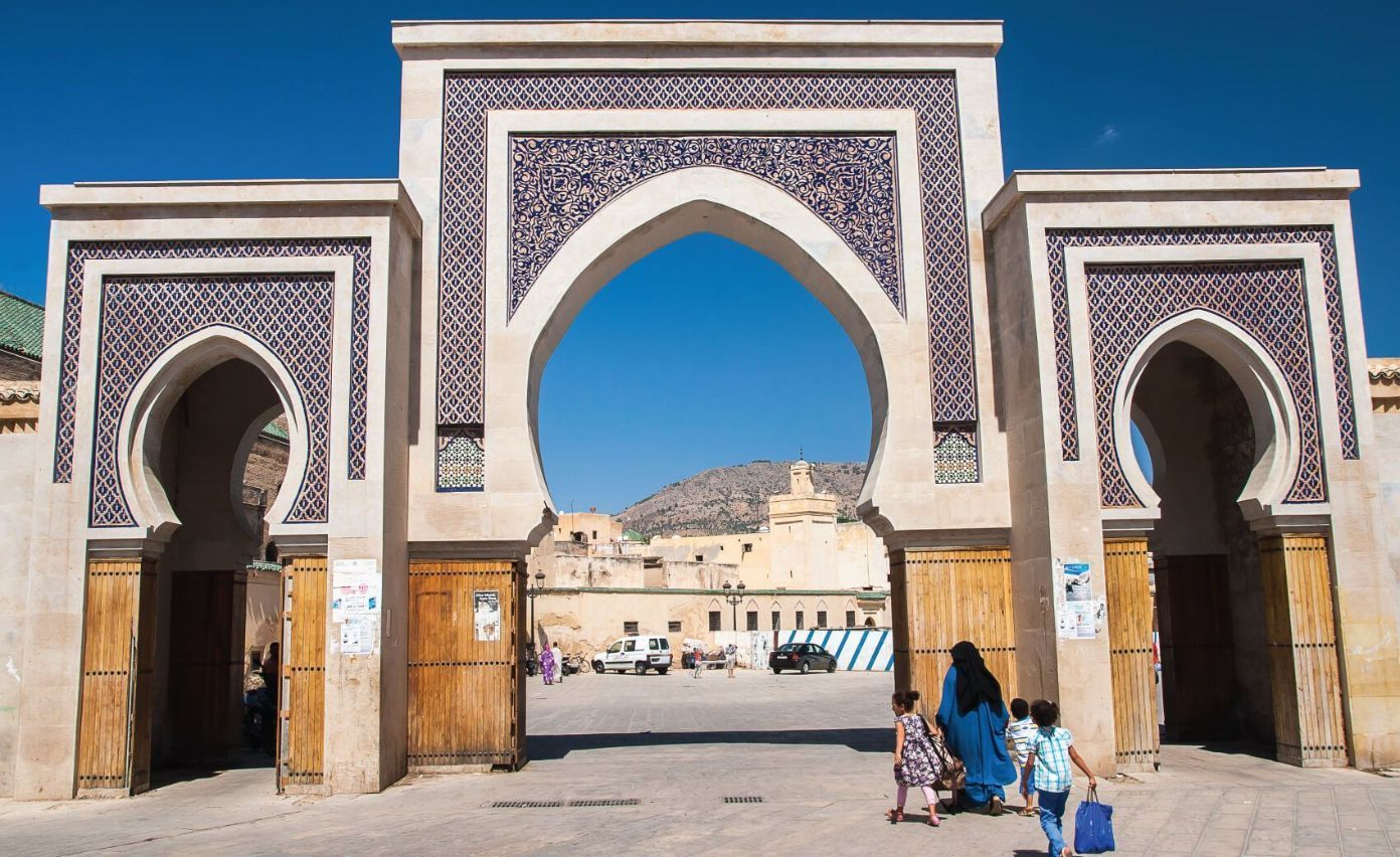 Bab Rcif One of the famous gate and place. UNESCO heritage site town Fez - medina. The ancient city