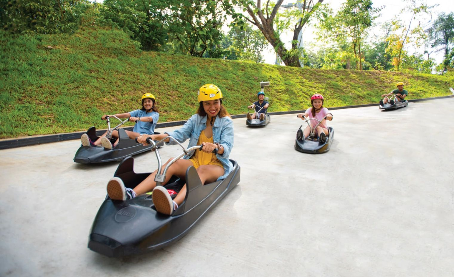 Skyline Luge in Sentosa