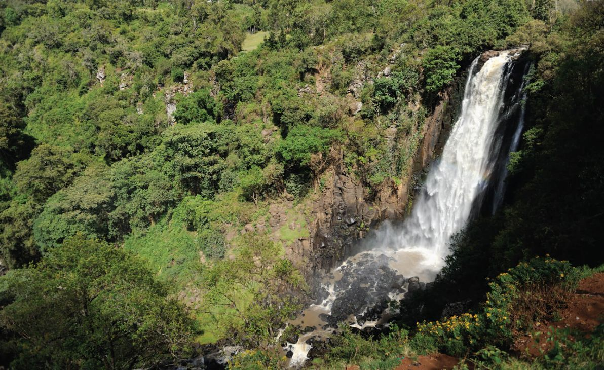 Big Thomson's Falls in Africa- Kenya