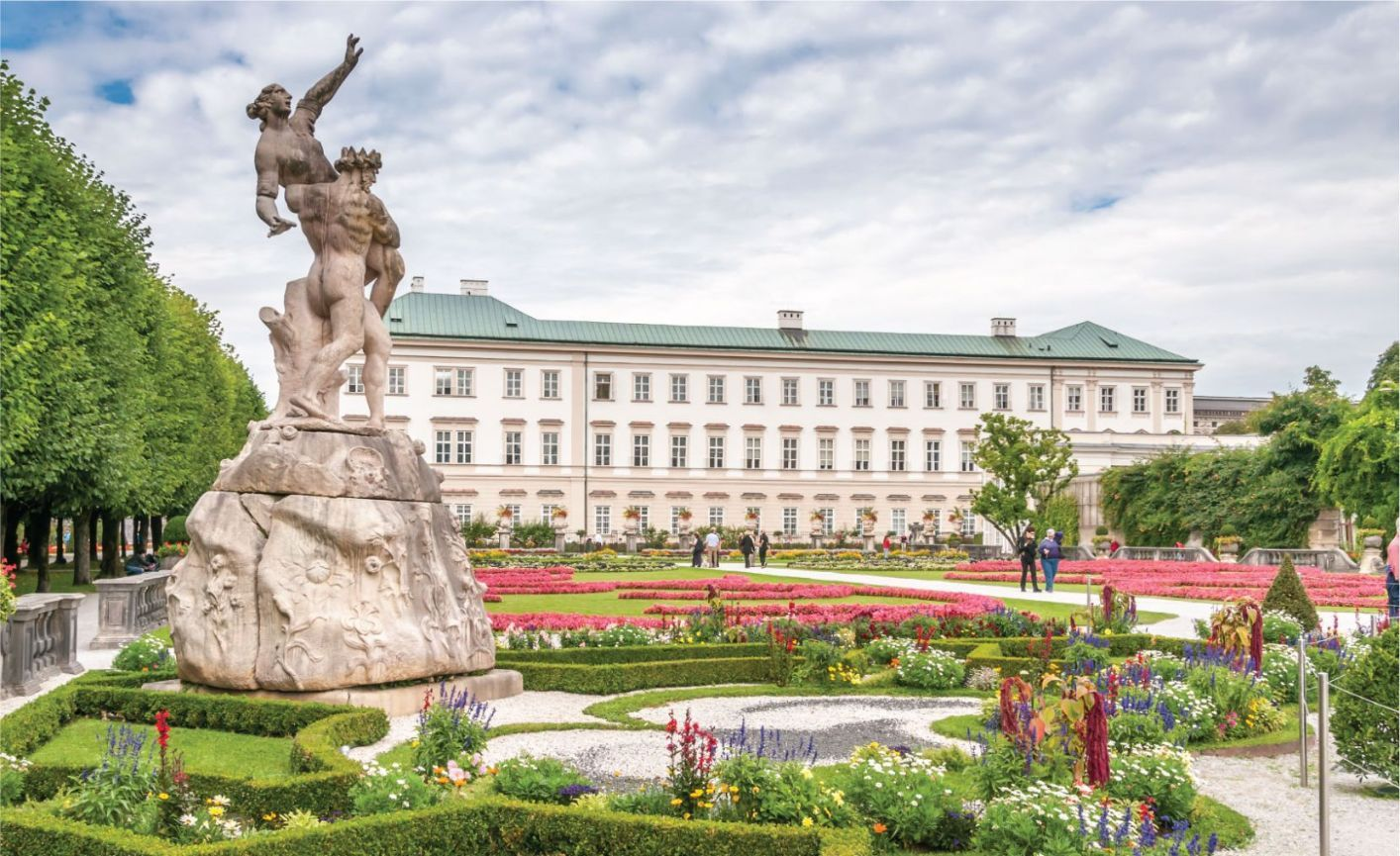 Gardens in Mirabell Palace Salzburgs Old Town