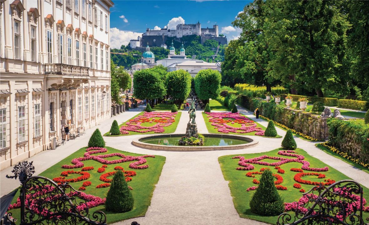Mirabell Palace and Gardens in Summer, Salzburg castle