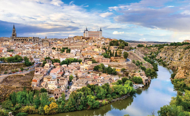 Toledo, Spain old town city skyline