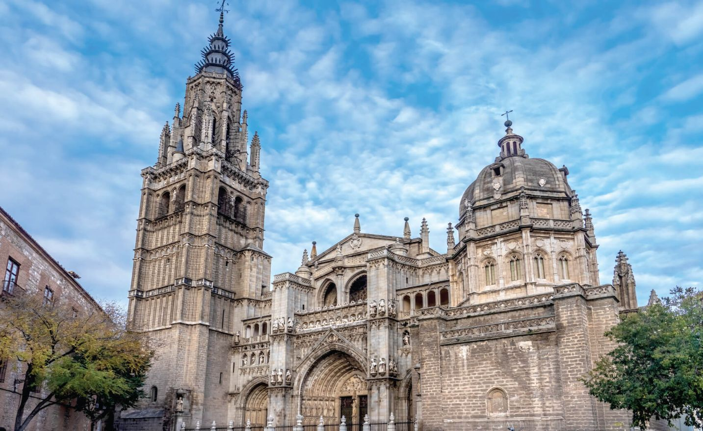 The Primate Cathedral of Saint Mary of Toledo, one of the three 13th-century High Gothic cathedrals