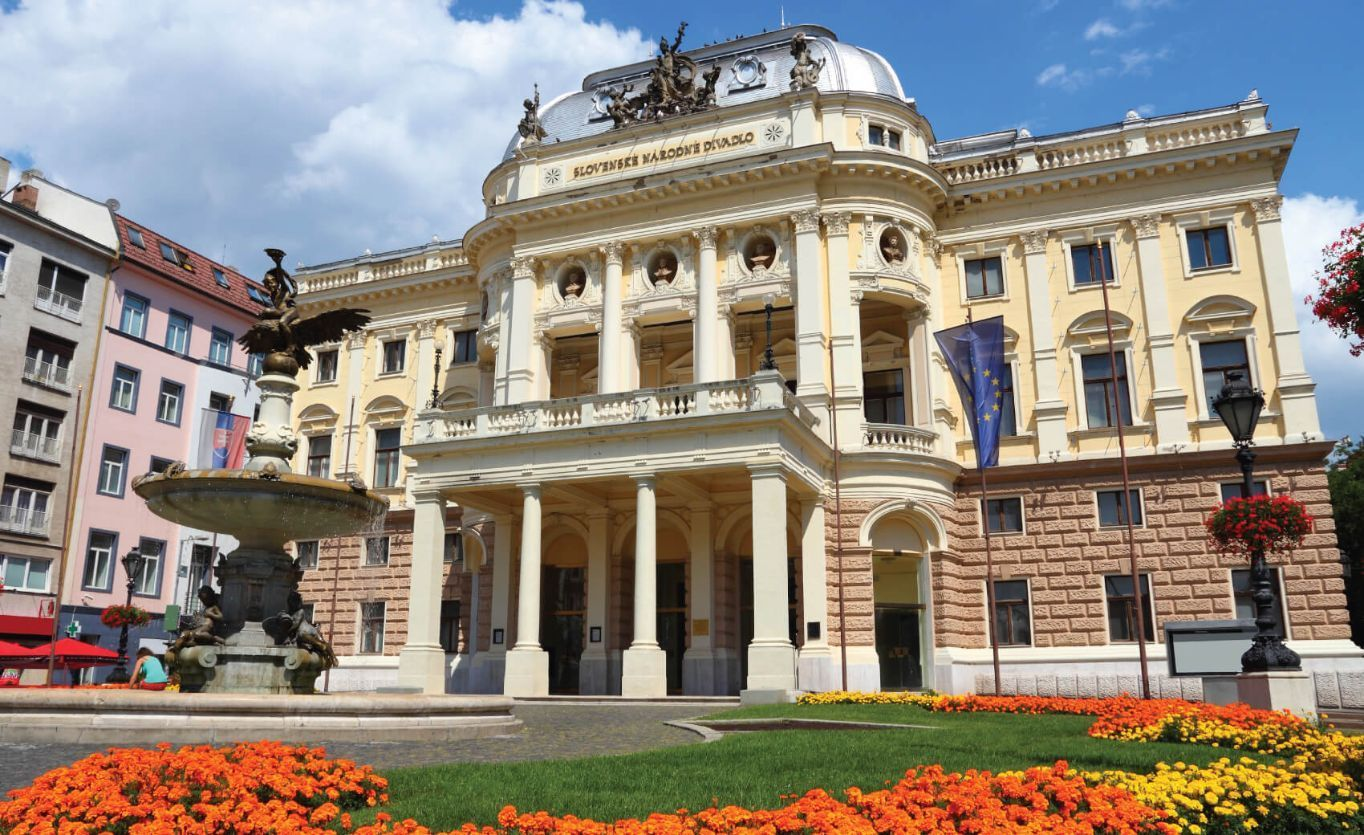 Bratislava, capital city of Slovakia. Neo-renaissance building of Slovak National Theater