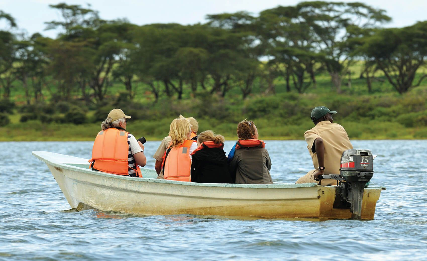 Boat riding at Lake Naivasha