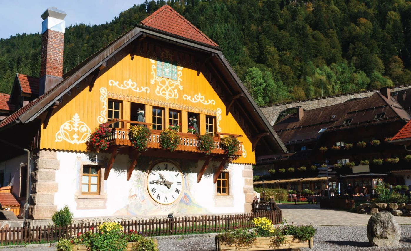The clock factory in germanys black forest