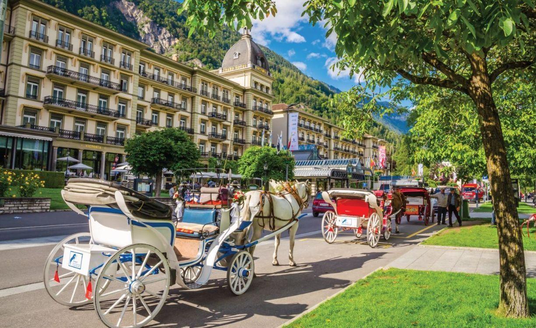 Street of Interlaken, Switzerland