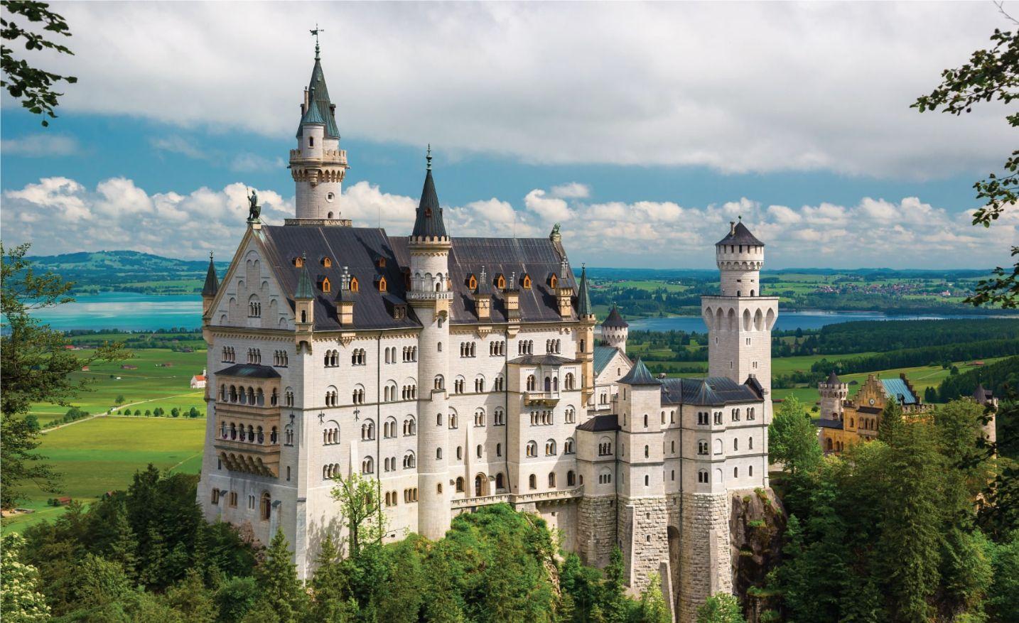 Bavarian Alps - the 19th century Neuschwanstein castle