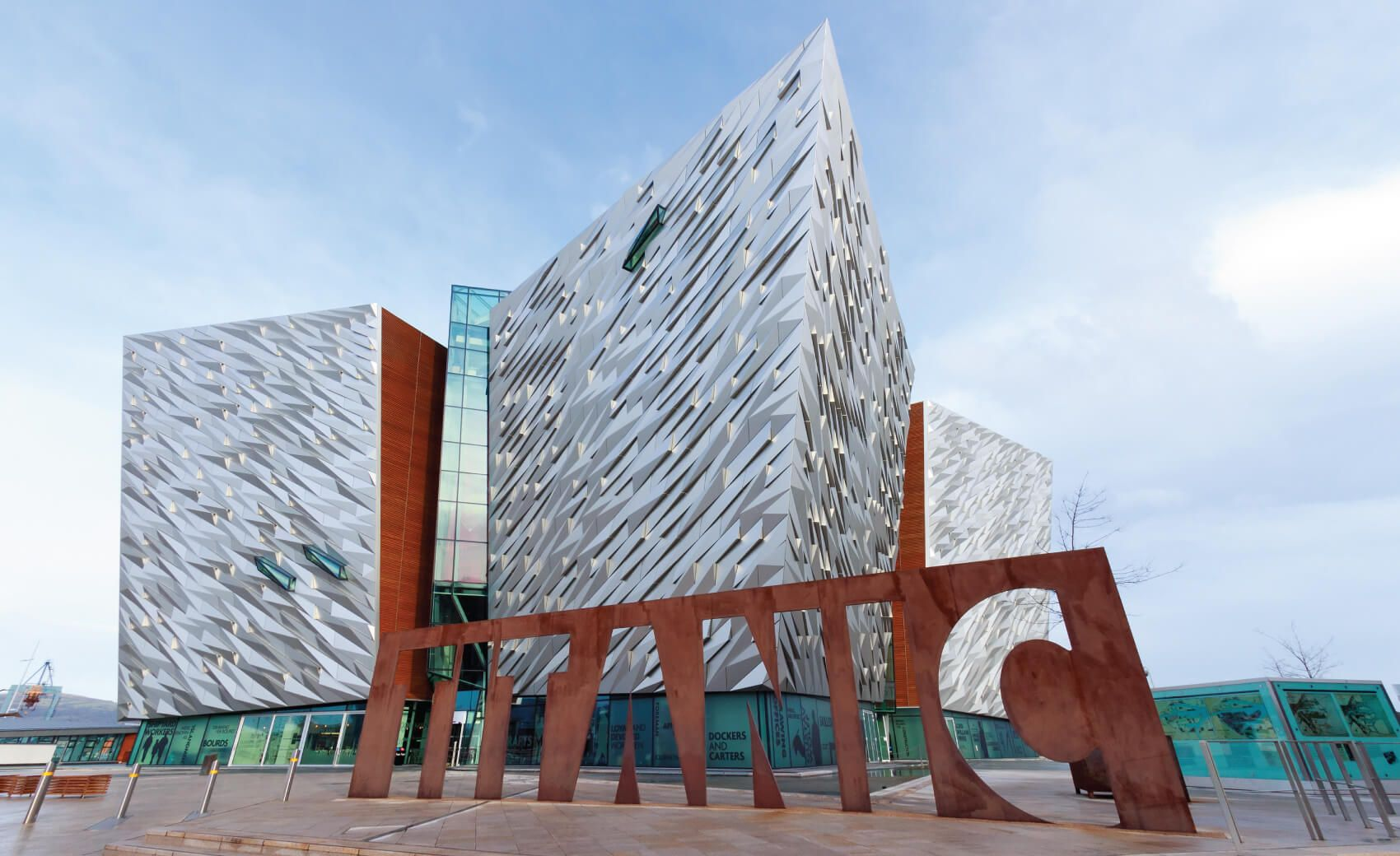 The Titanic visitor attraction and a monument in Belfast, Northern Ireland. Opened in 2012